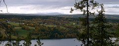 Autumn view westward from Hoverberget