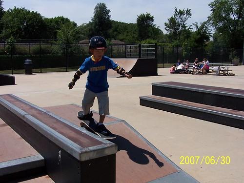 Skateboarding at Stevenson Park