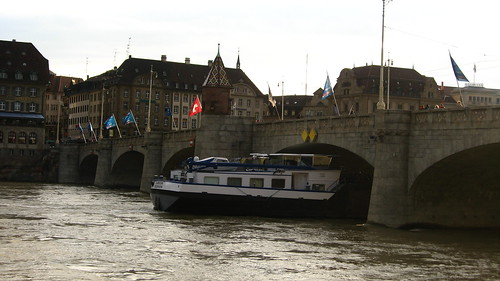 A close fit on the Rhine River in Switzerland