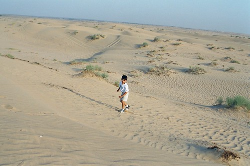 Neeraj Having fun on Dunes