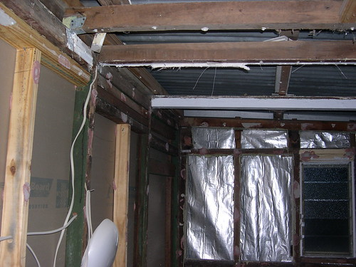 Load bearing internal wall - with non-structural timber