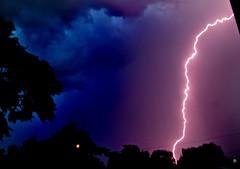 Too Close for Comfort! (benrobertsabq) Tags: summer storm newmexico crash boom abq bolt nm volt zap lightningstrike