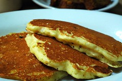 banana pancakes from hominy grill
