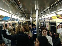 crowd on train