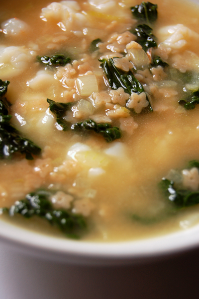 Stelline, Prawn and Cavolo Nero Soup