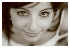 the sweetest thing (wunderskatz) Tags: portrait bw woman girl face sepia eyes sensitive manikin wunderskatz