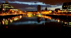 Dublin City, Ireland (Barry McGrath) Tags: city ireland dublin house night canon reflections river eos long exposure cityscape liffey docklands 30d dublincity canoneos30d canonefs1855mmf3556 beautyisintheeyeofthebeholder cutoms superaplus aplusphoto barrymcg bazzymcg