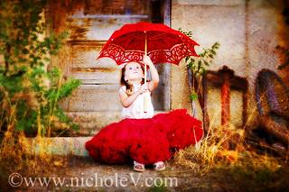 red.parasol