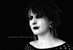 Carnival of Souls 004 (closetphoto) Tags: carnival portrait bw strange souls scary punk zombie ghost gothic goth eerie polka dot odd indie horror carny rikkilee closetphoto