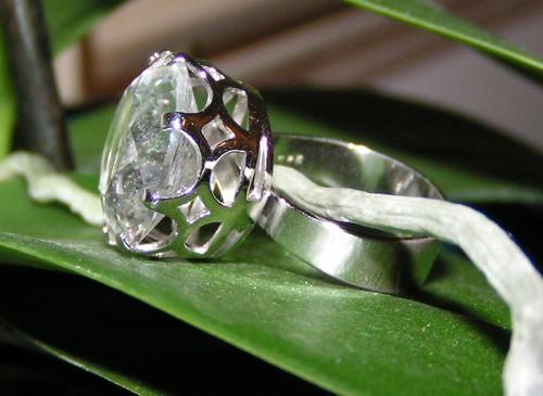 Stor sten, silverring