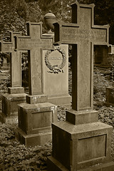 Wohack (shutterBRI) Tags: old travel cemetery sepia canon germany photography death photo cross frankfurt crosses powershot german rest 2007 a630 shutterbri hauptfriedhof challengeyouwinner brianutesch maincemetery flickrchallengegroup photofaceoffwinner pfogold brianuteschphotography