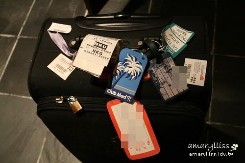 超級擔心會弄丟的行李(因為在香港轉機)