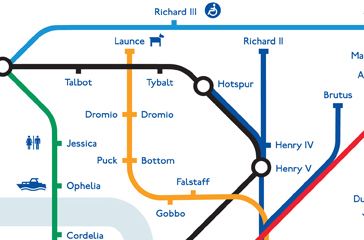 Detail from Shakespeare Tube Map