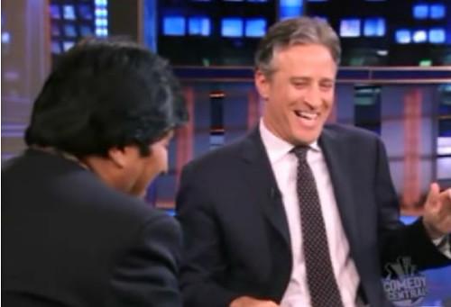 Evo Morales Jon Stewart