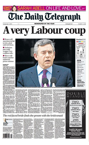 telegraph front cover