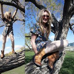 wild hearts can't be broken (neva yuzik) Tags: park blue summer sky tree floral grass standing