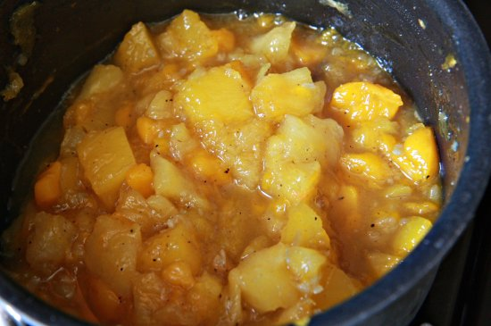 Sweet Potato Cakes w/ Mango Chutney