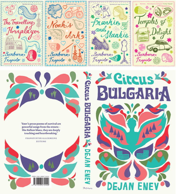 Book covers by Alice Stevenson