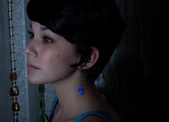 (nudeypants) Tags: light shadow portrait girl pretty lashes earring sonya