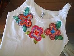 Floral 18 (Bordados DaAna®) Tags: flower floral fleur embroidery flor tshirt applique camiseta bordado aplique broderie camisola daana
