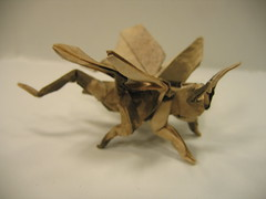 Flying Grasshopper (PhillipWest) Tags: origami paperfolding papiroflexia