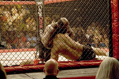 Kimbo Slice chokes Ray Mercer (cotton_man) Tags: mixed ray martial arts mercer slice vs choke brutality kimbo mixedmartialarts cagefighting kimboslice raymercer