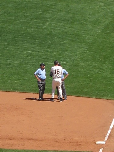 just before bochy got thrown out