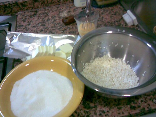 ingredients for arroz con leche
