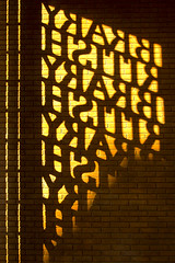 Open book (Stringendo) Tags: light shadow sunlight wall gold gate gateway britishlibrary novideo flickrjobdiff open2007