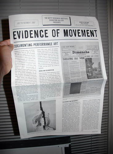 Evidence of Movement front page