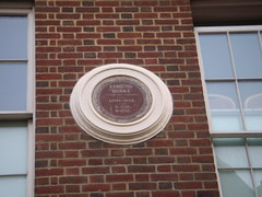 Photo of Edmund Burke brown plaque