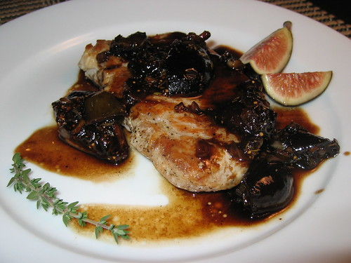 Pork Chops in Balsamic Fig Sauce