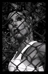Hey Mami - Dana Tkacz (Danny Girl Photography) Tags: fashion mami smoking latina hoops gangsta pinup wifebeater danatkacz