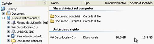 Fig. 3 - Compattazione disco virtuale - spazio iniziale file vdi su host
