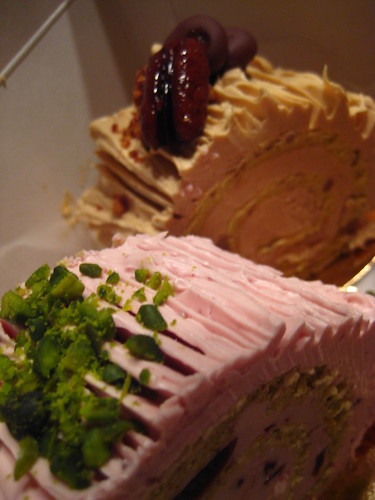 Pistachio & Caramel Pecan Bûche de Noël