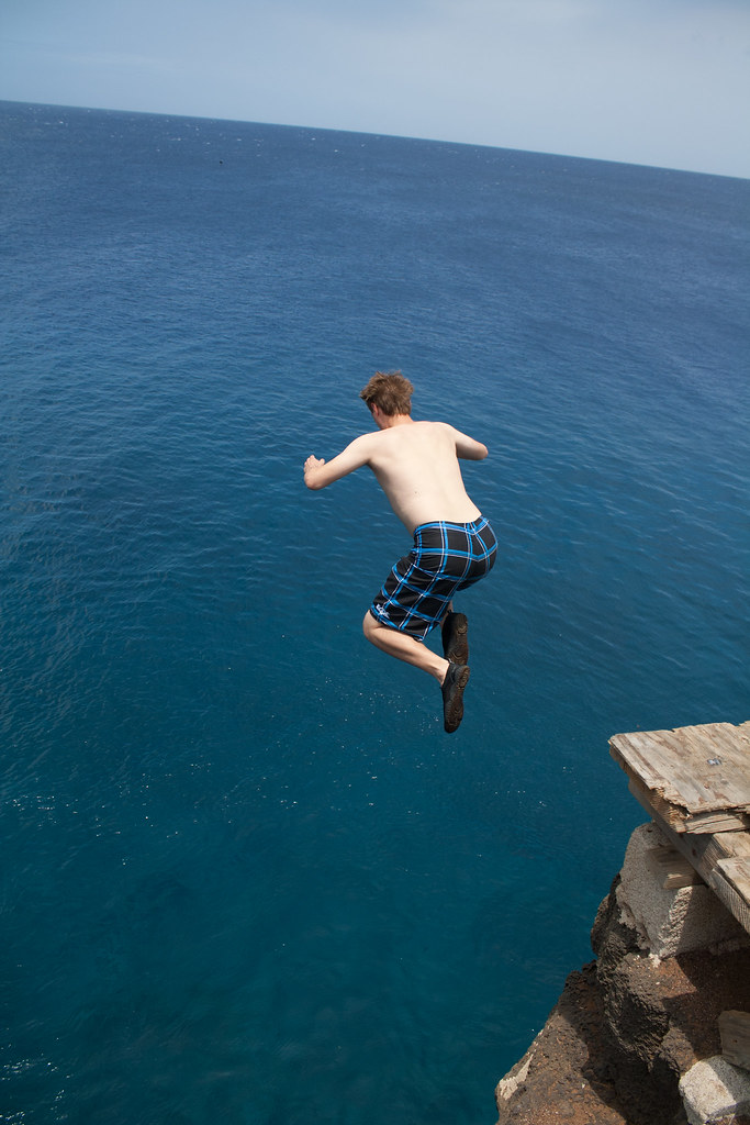 Jumping off South Point