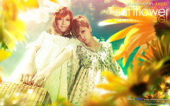 Sunflower () Tags: girls portrait sky flower nature girl beautiful beauty yellow digital photoshop wonderful garden aperture pretty friendship bright image sweet vision sunflower colourful emotions feelings designers