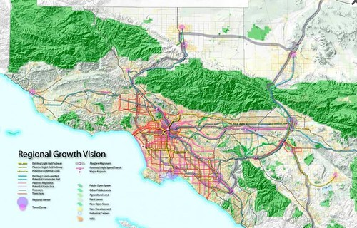 Southrn California regional growth vision (courtesy of Calthorpe Associates)
