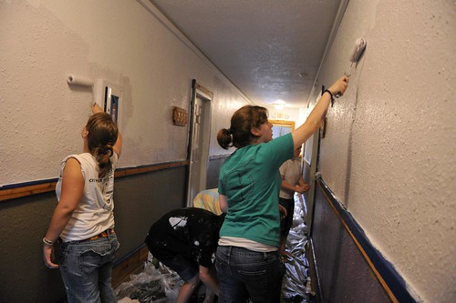Painting hallways in The Dundry