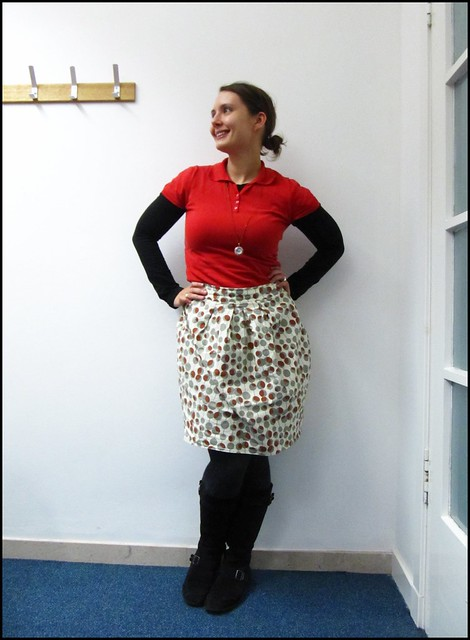 11.11.10: bubble skirt and red