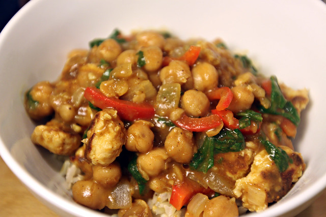 Coconut chana masala