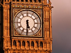 half past five in London (Swni) Tags: 6 gold golden big ben turm halb