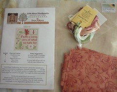 "Little House Needleworks ""Faith"" with finishing kit."