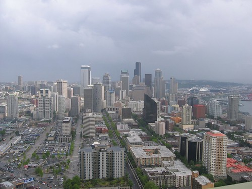 View of Downtown Seattle from the Space Needle