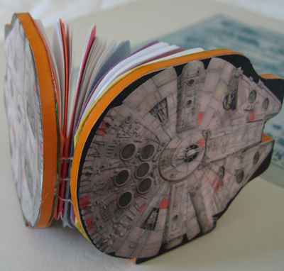 Millenium Falcon notebook (front view)