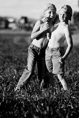 Boy Hug (sgt buzfuz) Tags: light bw white black dave d50 nikon natural drew zack nall sgtbuzfuz brawlin