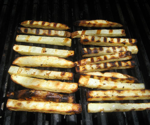 fries on the grill