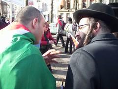 Jood en Palestijn in gesprek