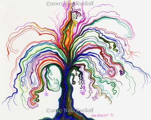 Psychedelic and Expressionistic Tree