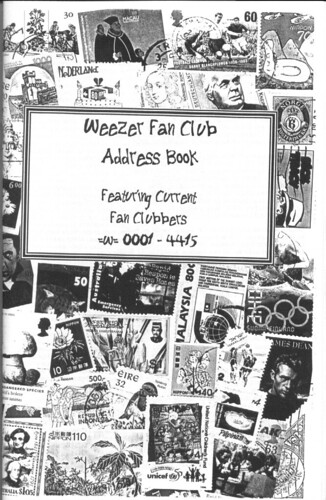 Super Rare Weezer Fan Club Address Book